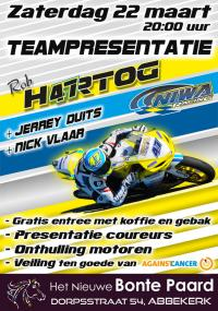 Presentatie Team Rob Hartog , NIWA Racing coureurs